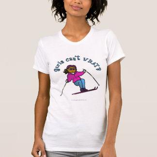 Dark Snow Skier Tshirt