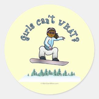 Dark Snowboarder Stickers