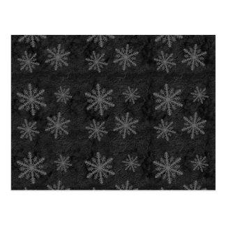 Dark Snowflake Pattern 1 Christmas Holiday Postcard
