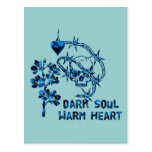 Dark Soul Skull Postcard