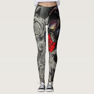 Dark Soul Skull & Roses Leggings