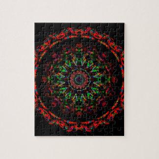 Dark Space Kaleidoscope Mandala Jigsaw Puzzle