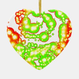 Dark Spiral Vitality Ceramic Heart Decoration