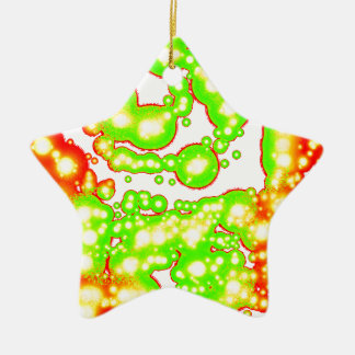Dark Spiral Vitality Double-Sided Star Ceramic Christmas Ornament