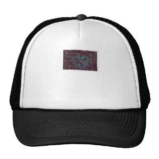 Dark Splattered Love Mesh Hats