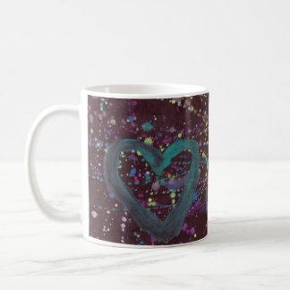 Dark Splattered Love Mugs