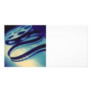 Dark Spool of Film Customized Photo Card