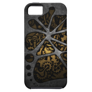 Dark steampunk cogwheel gears chassis tough iPhone 5 case