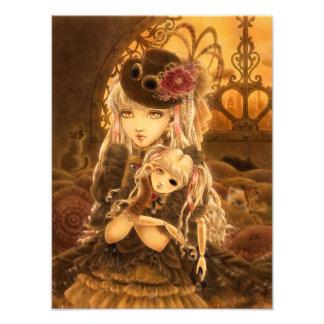 Dark Steampunk Fantasy Art Photo Print