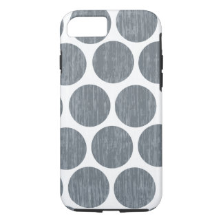 Dark Steel Gray Distressed Polka Dot iPhone 7 iPhone 8/7 Case
