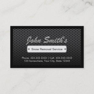 Snow removal business cards zazzle uk dark steel snow removal business cards colourmoves