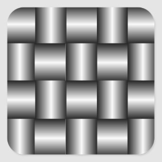 Dark Steel Weave Pattern Sticker