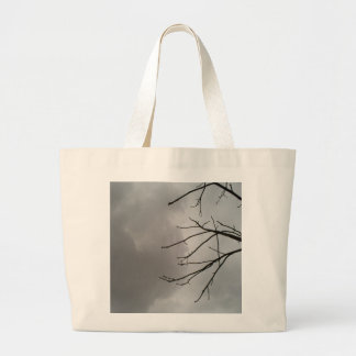 Dark Storm Clouds Jumbo Tote Bag
