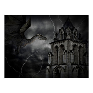 Dark stormy night print