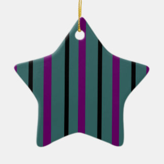 Dark Stripe Love Christmas Ornament