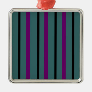 Dark Stripe Love Christmas Ornament