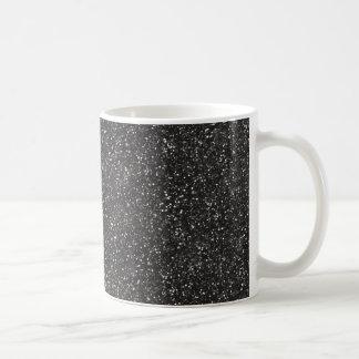 Dark Stylish Silver Grey Glitter Coffee Mug