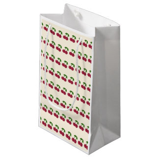 Dark Summer Time Cherries Small Gift Bag