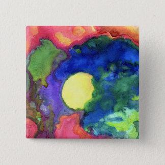 Dark Sunrise 15 Cm Square Badge