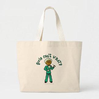 Dark Surgeon Girl Jumbo Tote Bag