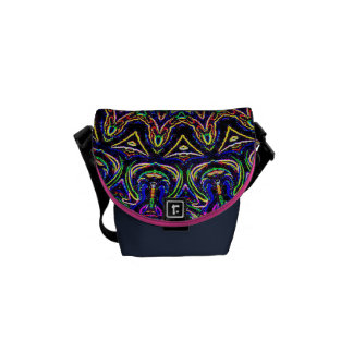 Dark Tapestry Kaleidoscope Courier Bags