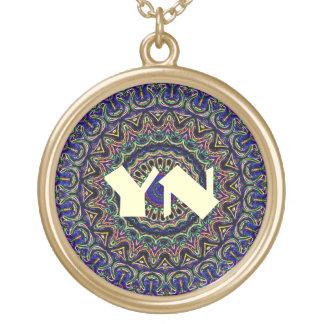 Dark Tapestry Kaleidoscope Round Pendant Necklace