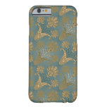 dark teal green and gold damask barely there iPhone 6 case