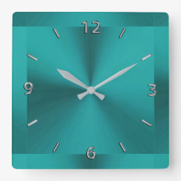 Teal Wall Clocks Zazzle Co Uk