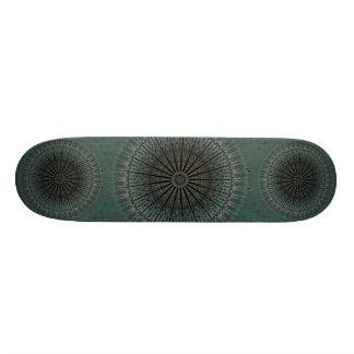 Dark Teal Mandala 20 Cm Skateboard Deck