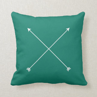 Dark Teal Modern Arrow Minimal Cushion