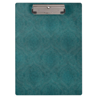 Dark Teal Pattern background Clipboard