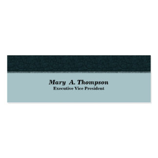 Dark Teal Texture Pack Of Skinny Business Cards