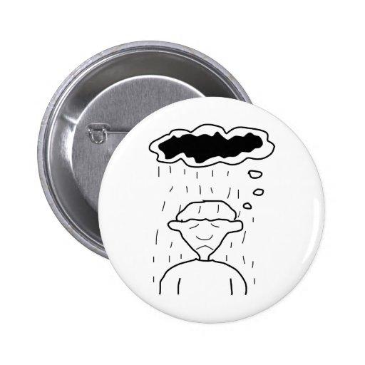 Dark Thoughts 6 Cm Round Badge