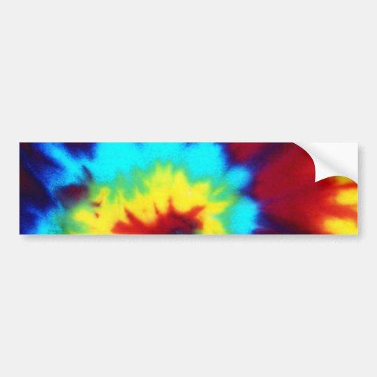 Dark Tie Dye Design Bumper Sticker