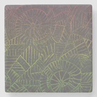 Dark Tie Dye Stone Coaster