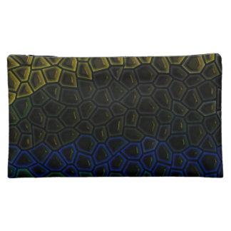 Dark tile pattern cosmetics bags