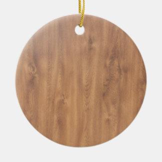 Dark timber pattern round ceramic decoration