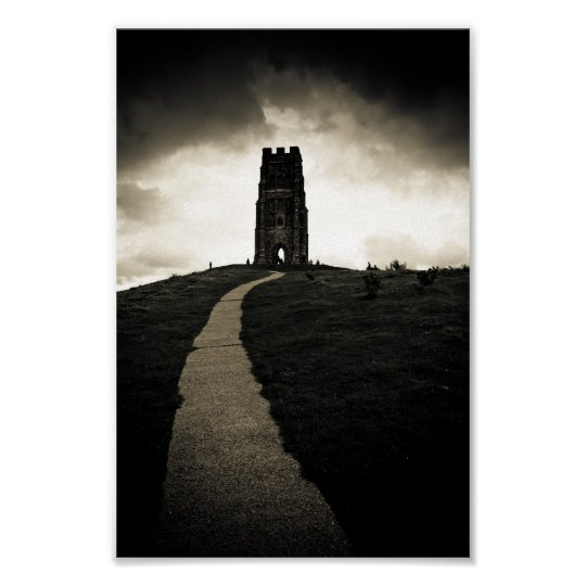 Dark Tor - Iconic Glastonbury 6x10 Archival Poster