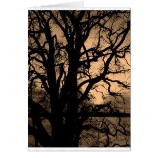 Dark tree card
