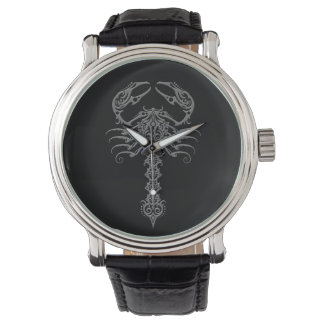 Dark Tribal Scorpion Watch