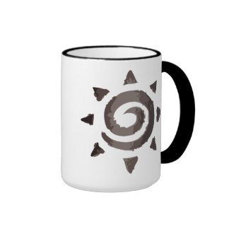 Dark Tribal Sun Ringer Mug