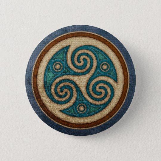 Dark Triskele Round Button