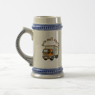 Dark Truck Driver Girl Beer Stein
