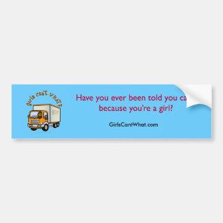 Dark Truck Driver Girl Car Bumper Sticker