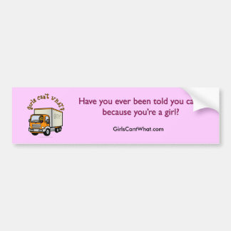 Dark Truck Driver Girl Bumper Sticker