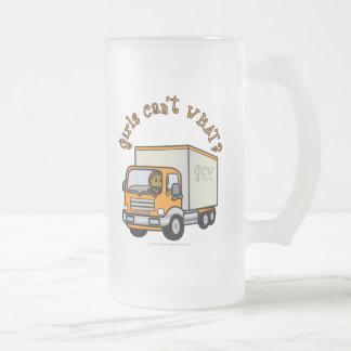 Dark Truck Driver Girl Mug