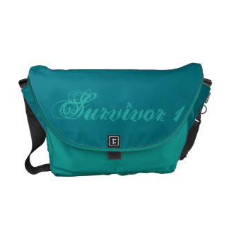 Dark Turquoise and Peacock Medium Survivor 1 Bag Commuter Bags