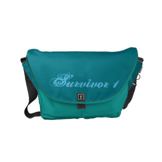 Dark Turquoise and Peacock Small Survivor 1 Bag Commuter Bag