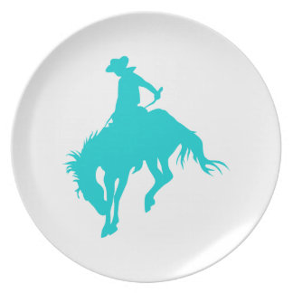 Dark Turquoise Cowboy Plate