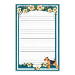 Dark Turquoise Floral lined Stationery